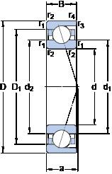 100 mm x 150 mm x 24 mm  SKF 7020 ACD/P4A angular contact ball bearings