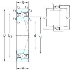 60 mm x 85 mm x 13 mm  SNFA HB60 /S/NS 7CE3 angular contact ball bearings