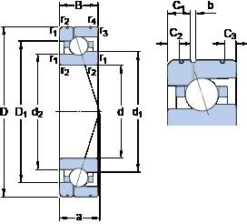 100 mm x 150 mm x 24 mm  SKF 7020 CE/P4AL1 angular contact ball bearings