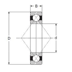 220 mm x 400 mm x 65 mm  SIGMA QJ 244 N2 angular contact ball bearings