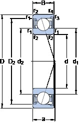100 mm x 150 mm x 24 mm  SKF S7020 ACD/HCP4A angular contact ball bearings