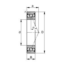 50 mm x 72 mm x 12 mm  FAG HSS71910-E-T-P4S angular contact ball bearings
