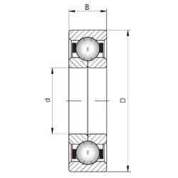 ISO QJ1036 angular contact ball bearings