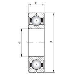 ISO Q244 angular contact ball bearings