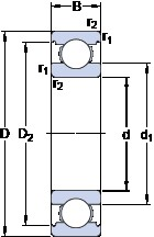 70 mm x 150 mm x 35 mm  SKF 6314 M/C3VL0241 deep groove ball bearings