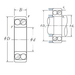 5 mm x 19 mm x 6 mm  NSK 135 self aligning ball bearings
