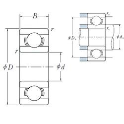 5 mm x 19 mm x 6 mm  ISO 635 deep groove ball bearings