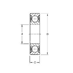 30 mm x 42 mm x 7 mm  CYSD 6806-ZZ deep groove ball bearings