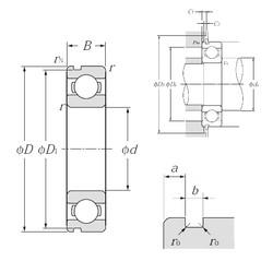 30 mm x 42 mm x 7 mm  NTN 6806N deep groove ball bearings