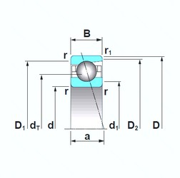 55 mm x 80 mm x 13 mm  NSK 7911CTRSU angular contact ball bearings