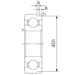 55 mm x 80 mm x 13 mm  NACHI 6911N deep groove ball bearings