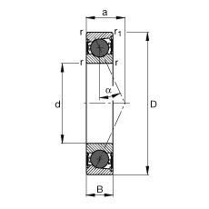 60 mm x 85 mm x 13 mm  FAG HCB71912-E-2RSD-T-P4S angular contact ball bearings