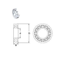 60 mm x 85 mm x 13 mm  ZEN 61912-2Z deep groove ball bearings