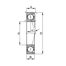 220 mm x 400 mm x 65 mm  FAG B7244-C-T-P4S angular contact ball bearings