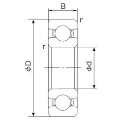 60 mm x 85 mm x 13 mm  NACHI 6912 deep groove ball bearings
