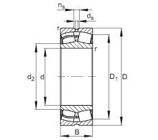 240 mm x 360 mm x 92 mm  FAG 23048-E1 spherical roller bearings