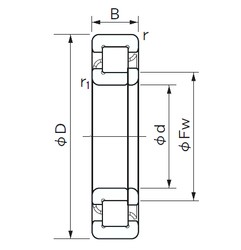 180 mm x 280 mm x 46 mm  NACHI NUP 1036 cylindrical roller bearings
