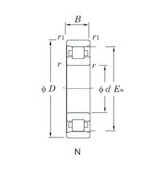 300 mm x 540 mm x 85 mm  KOYO N260 cylindrical roller bearings