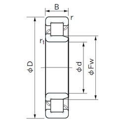 300 mm x 540 mm x 85 mm  NACHI NJ 260 cylindrical roller bearings