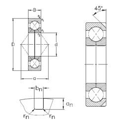 220 mm x 400 mm x 65 mm  NKE QJ244-N2-MPA angular contact ball bearings
