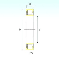 220 mm x 400 mm x 65 mm  ISB NU 244 cylindrical roller bearings