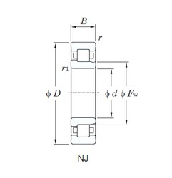 300 mm x 540 mm x 85 mm  KOYO NJ260 cylindrical roller bearings