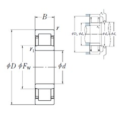 300 mm x 540 mm x 85 mm  NSK NU 260 cylindrical roller bearings