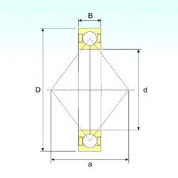 180 mm x 280 mm x 46 mm  ISB QJ 1036 angular contact ball bearings