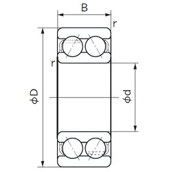 65 mm x 120 mm x 38.1 mm  NACHI 5213 angular contact ball bearings