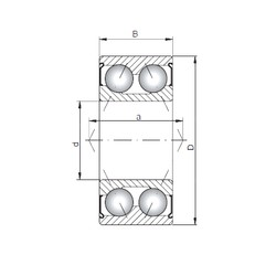ISO 3213 ZZ angular contact ball bearings