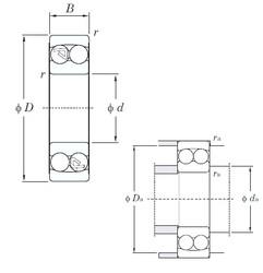5 mm x 19 mm x 6 mm  KOYO 135 self aligning ball bearings