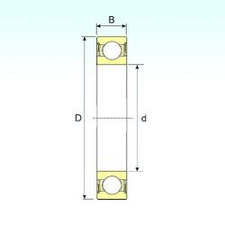 30 mm x 42 mm x 7 mm  ISB 61806-2RS deep groove ball bearings