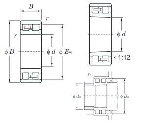240 mm x 360 mm x 92 mm  KOYO NN3048 cylindrical roller bearings