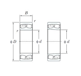 240 mm x 360 mm x 92 mm  KOYO 23048R spherical roller bearings