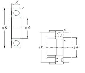 60 mm x 85 mm x 13 mm  KOYO 6912 deep groove ball bearings