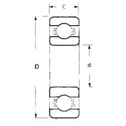 30 mm x 42 mm x 7 mm  FBJ 6806 deep groove ball bearings