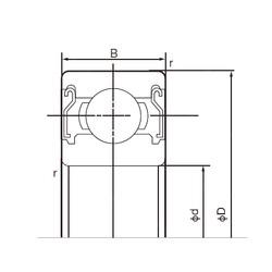 60 mm x 85 mm x 13 mm  NACHI 6912ZZ deep groove ball bearings