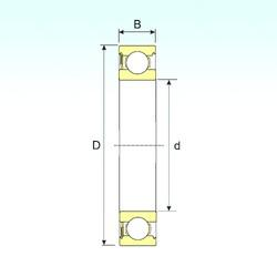 5 mm x 19 mm x 6 mm  ISB 635-RS deep groove ball bearings