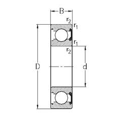 30 mm x 42 mm x 7 mm  NKE 61806-2RSR deep groove ball bearings