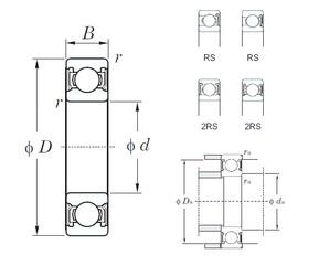 30 mm x 42 mm x 7 mm  KOYO 6806-2RS deep groove ball bearings