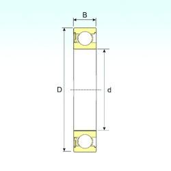 5 mm x 19 mm x 6 mm  ISB 635-RZ deep groove ball bearings