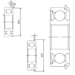50 mm x 72 mm x 12 mm  NACHI 6910ZENR deep groove ball bearings