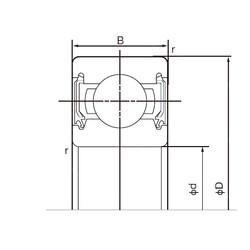 30 mm x 42 mm x 7 mm  NACHI 6806-2NSE deep groove ball bearings