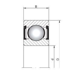 5 mm x 19 mm x 6 mm  Loyal 635 ZZ deep groove ball bearings