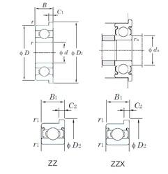 5 mm x 19 mm x 6 mm  KOYO F635ZZ deep groove ball bearings
