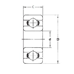 5 mm x 19 mm x 6 mm  FBJ 635 deep groove ball bearings