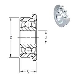 30 mm x 42 mm x 7 mm  ZEN F61806-2Z deep groove ball bearings