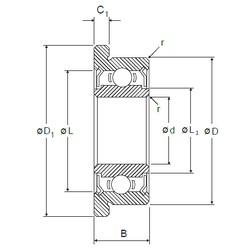 5 mm x 19 mm x 6 mm  NMB RF-1950ZZ deep groove ball bearings