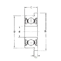 5 mm x 19 mm x 6 mm  FBJ F635ZZ deep groove ball bearings