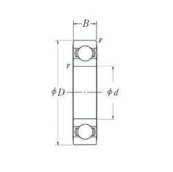 50 mm x 72 mm x 12 mm  NSK 6910L11-H-20ZZ deep groove ball bearings